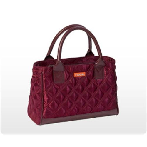 Hannon 03-034 Burgundy Quilted Sachi Fashion Lunch Bag