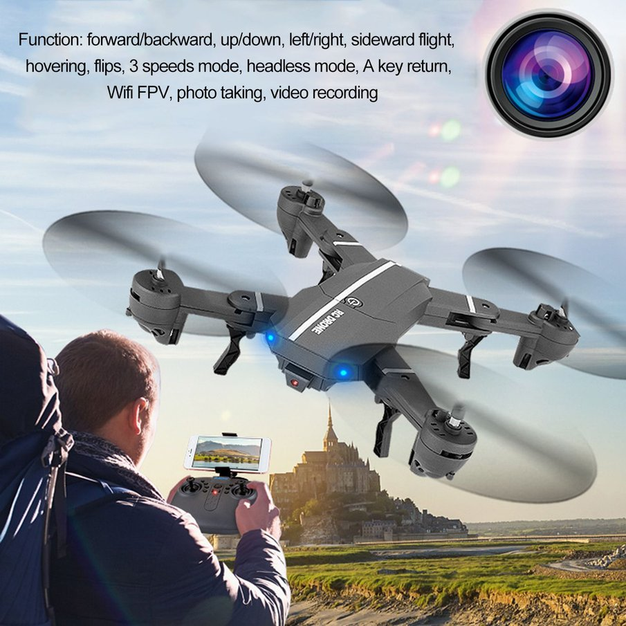 8807 Wireless Helicopter Mini Wifi RC Quadcopter With 0.3MP Camera Foldable 6-Axle Drone Toy Durable Photography Video Device