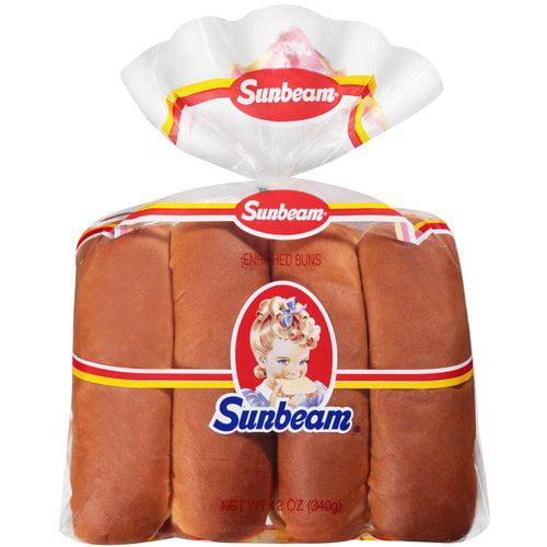 Sunbeam Hot Dog Buns, 8 ct, 12 oz