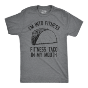 Mens Fitness Taco Funny T Shirt Humorous Gym Graphic Novelty Sarcastic Tee Guys