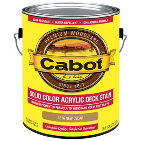 Cabot Samuel 1816-07 Gallon Cedar Solid Color Acrylic Deck Stain - Pack of 4 Cedar Deck Stain