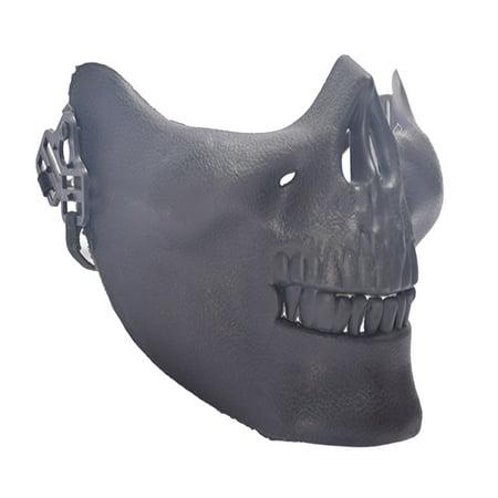 Masquerade Party Cosplay Face Mask, Skull Half Face Mask for Women and Men - Half Face Skull Halloween