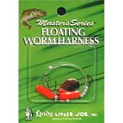 Little Joe Floating Worm Harness Fishing Lure Harness Nickel Blade Hot Orange Float 36 inch length Snell