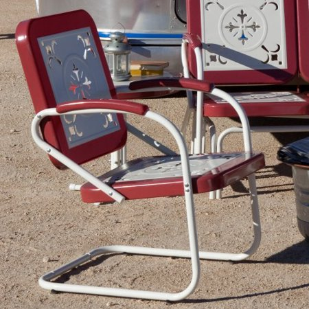 Coral Coast Paradise Cove Retro Metal Arm Chair Walmart Com