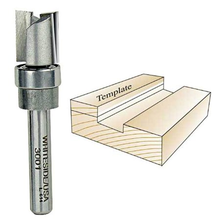 3001 Whiteside Carbide TP Template Router Bit w/ Bearing Guide 1/2CD 1/2CL 1/4SH