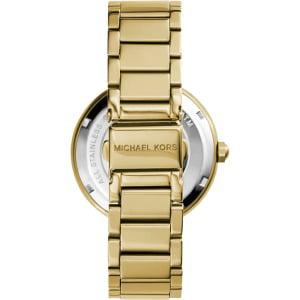 ac7fd4aabd29 Michael Kors - Parker Logo Glitz Gold-Tone Women s Watch