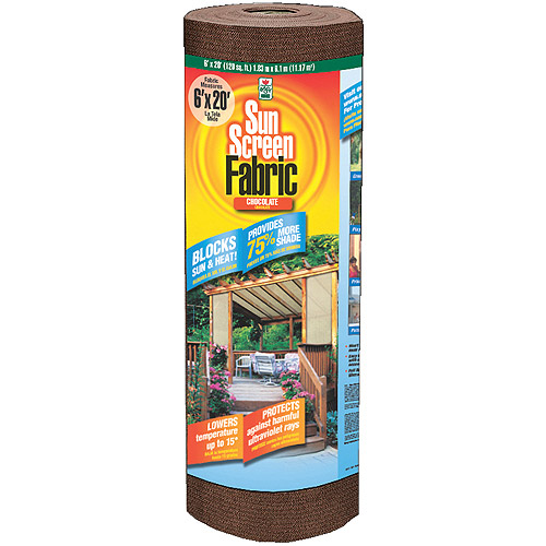 Easy Gardener 81020P 6' X 20' Chocolate SunScreen Fabric