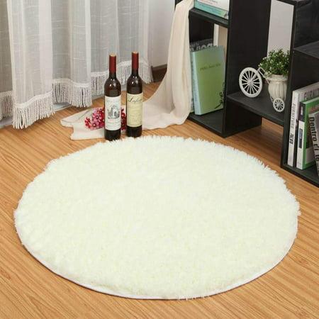 Circle Smooth Living Room Mat Area Rugs Carpet Doormat Floor Mat Bedroom Kitchen Sofa Cushion Non-Slip Foot Pad Rug(80*80CM)