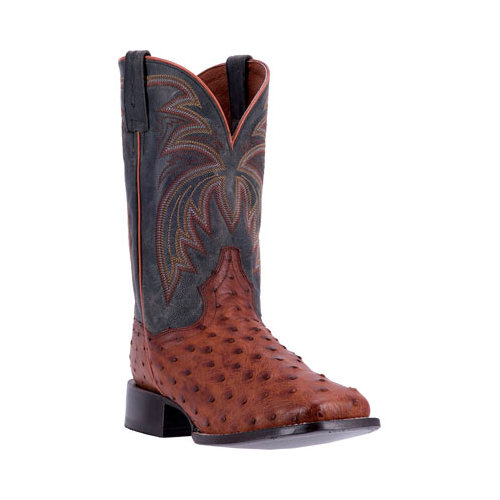 Dan Post Boots Calhoun Cowboy Boot DP4533(Men's) -Cognac/Black Leather