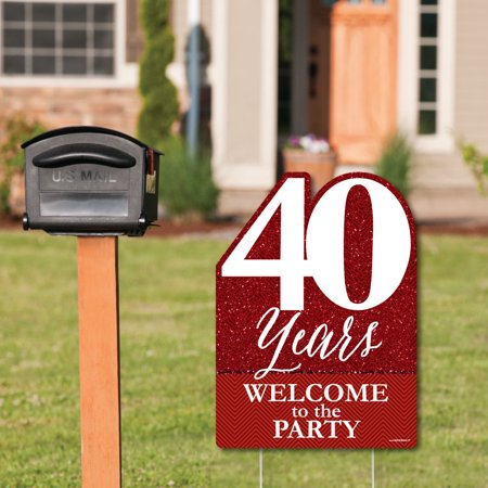 We Still Do - 40th Wedding Anniversary - Party Decorations - Anniversary Party Welcome Yard Sign](40th Decorations)