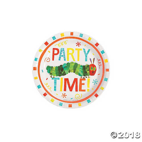The Very Hungry Caterpillar? Paper Dessert Plates - Very Hungry Caterpillar Party Decorations