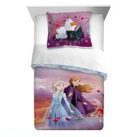 Frozen 2 2-Piece Comforter and Sham Set, Kids Bedding, Twin/Full