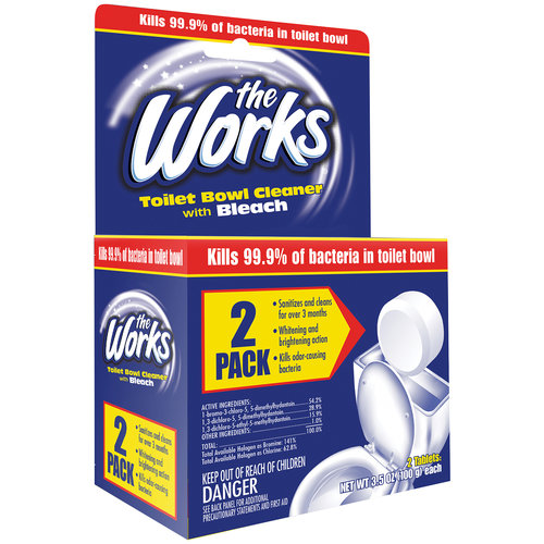 The Works Toilet Bowl Cleaner with Bleach, 3.5 oz, 2 count