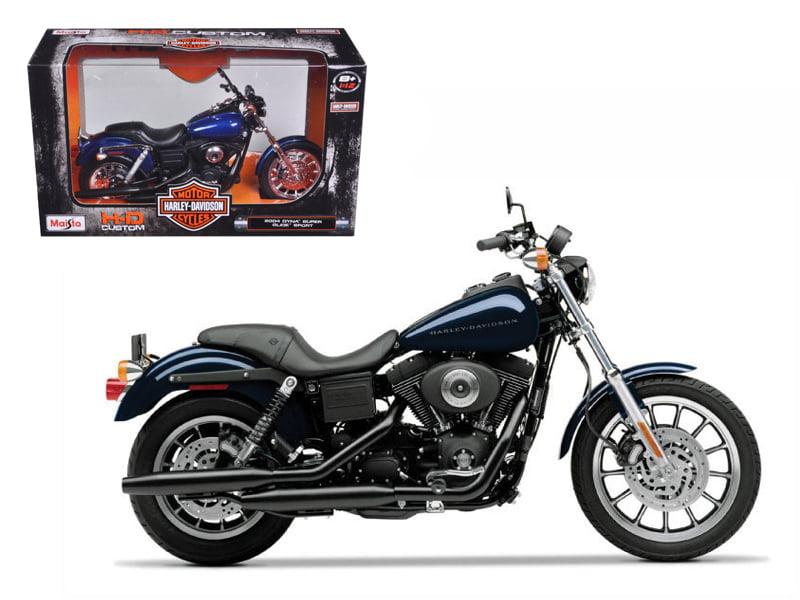 2004 Harley Davidson Dyna Super Glide Sport Bike Motorcycle 1 12 Model by Maisto by Maisto