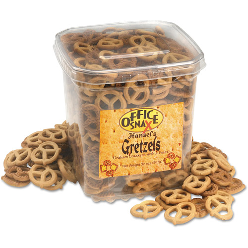Office Snax Hansel's Gretzels Graham Crackers, 32 oz