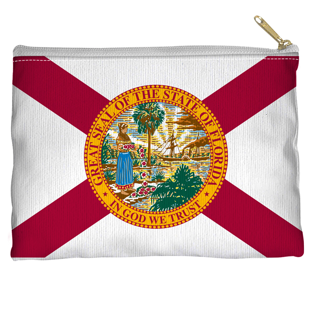 Florida Flag USA United States National State Flags Accessory Pouch
