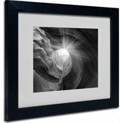 """Trademark Fine Art """"Searching Light I"""" Matted Framed Art by Moises Levy, Black Frame"""