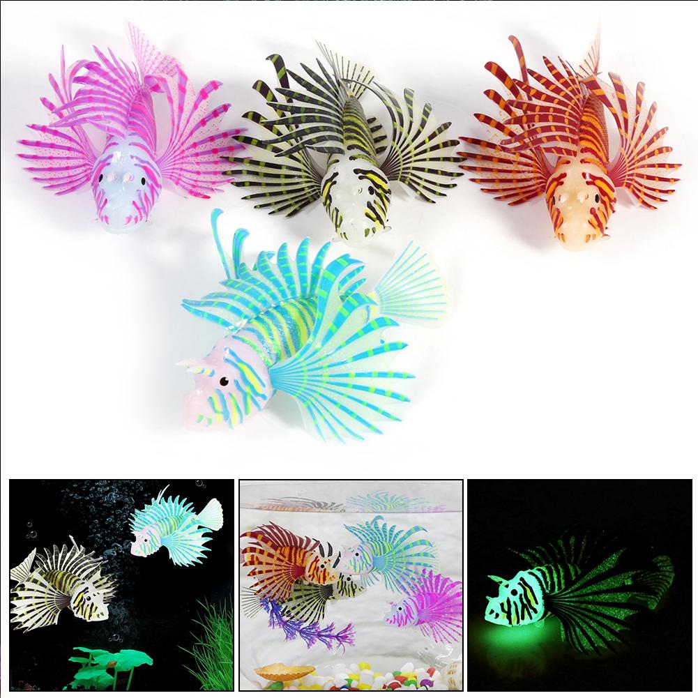 Dilwe Aquarium Artificial Fish Tank Landscape Decoration Glow Simulation Animal ornaments, Fish Tank Decoration, Aquariumsimulation Fish