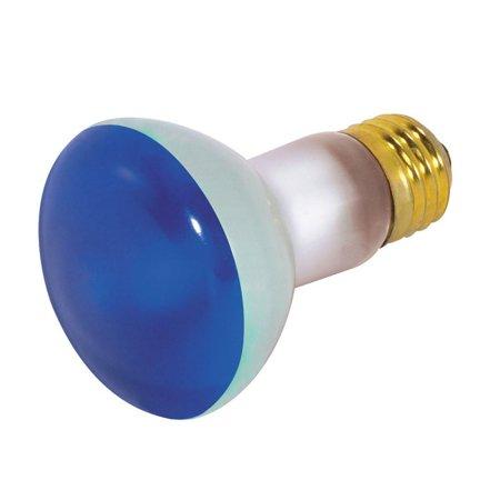 Blue Satco Incandescent Light Bulb - Satco S3202 50W 130V R20 Blue E26 Medium Base Incandescent light bulb