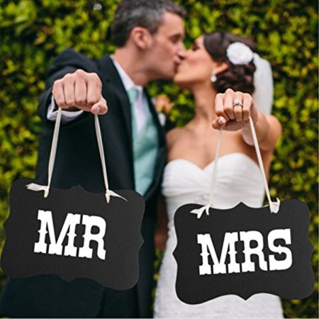 Mr and Mrs photo props, Mr and Mrs chair signs, wedding decorations, bride and groom signs, photo booth signs, unique wedding decor by UsaSales, US Seller](The Bride Is Coming Sign)