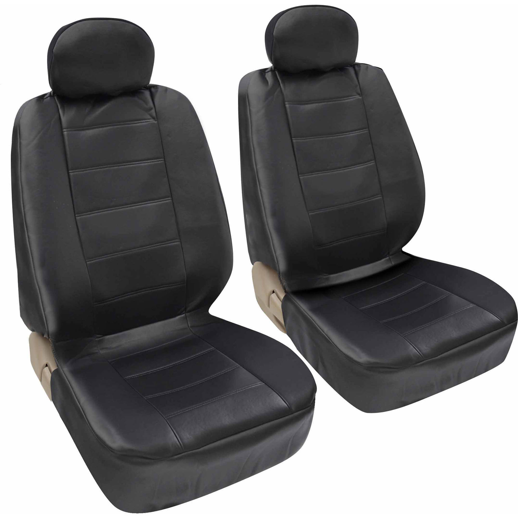 Motor Trend Synthetic Leather Car Seat Covers Front Pair