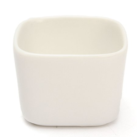 White Ceramic Planter Flower Pot Plant Square Garden Patio Desk Decor - Square Planting Pots