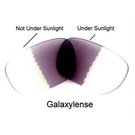 Galaxy Replacement Lenses for Oakley Style Switch Photochromic Transition Change To Darker Grey (Oakley Style Switch)