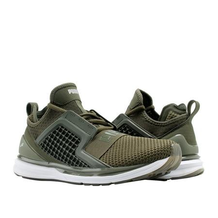 Puma IGNITE Limitless Weave Forest Night/Olive Men's Running Shoes 19050301 (Puma Shoes Men Futbol)