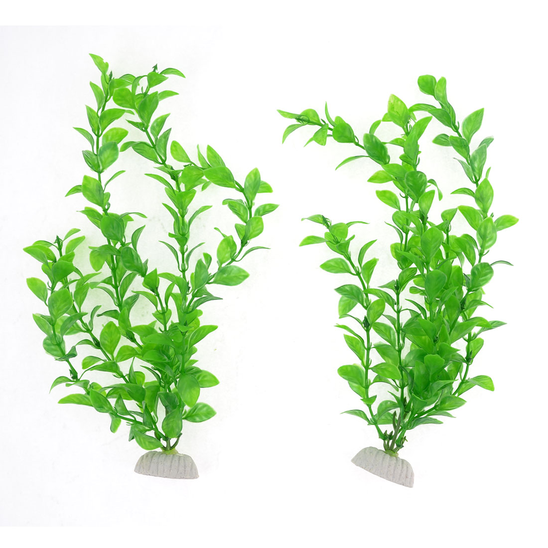 Plastic Green Underwater 29cm Grass Plant for Fish Tank Ornament 2 Pcs