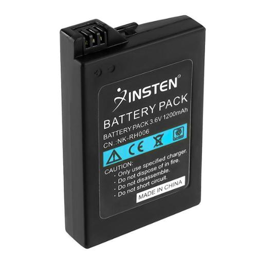 PSP Slim Battery, by Insten Replacement Battery Pack for SONY PSP Slim 2000 3000 High capacity 1200mAh 3.6V Rechargeable
