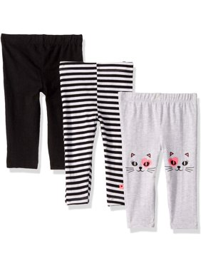 Limited Too Baby Girl Knit Leggings, 3-Pack