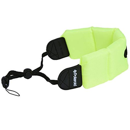 Polaroid Floating Flotation Wrist Strap (Green) for Underwater/Waterproof Cameras, Camcorders and Housings (Camera Housing Light)