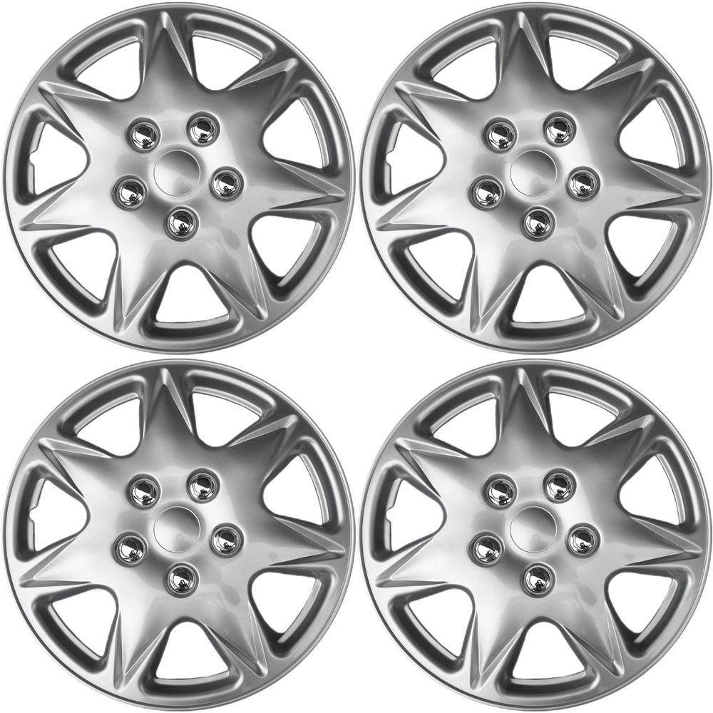 """OxGord 17"""" inch Silver Wheel Covers for 2005-2007 Chrysler Pacific - Set of 4"""