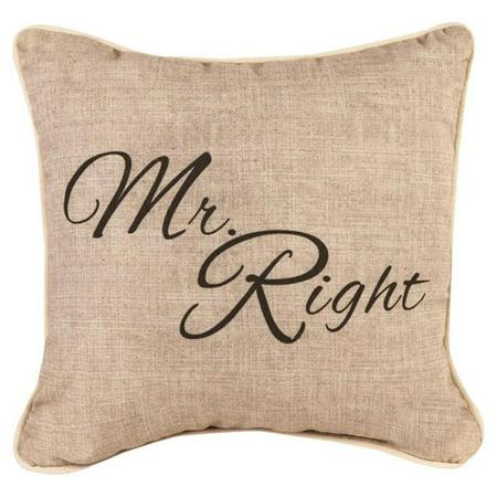 - Manual Mr. Right Decorative Pillow