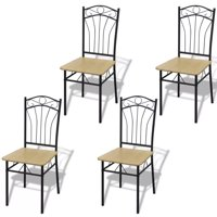 Dining Chairs 4 pcs Light Brown