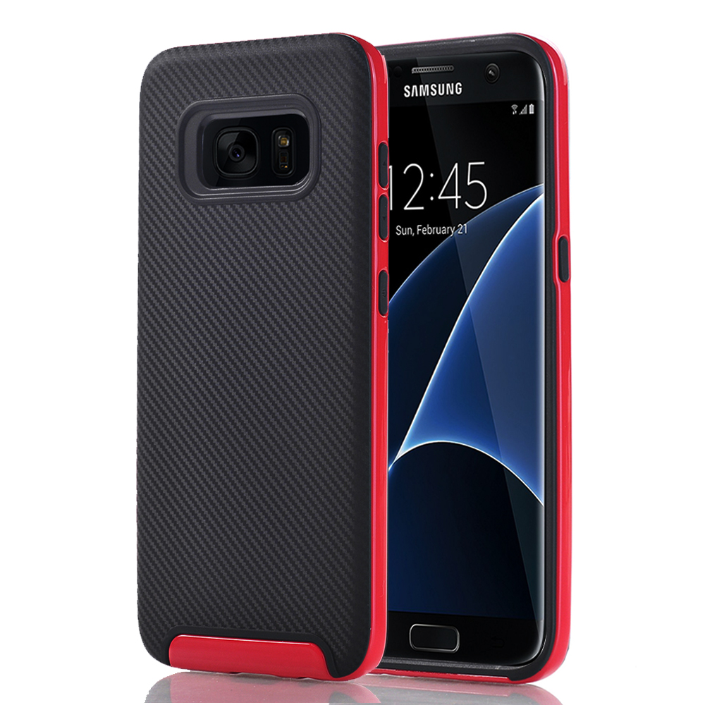 Samsung Galaxy S7 Edge Full Body Hybrid TPU Dual Verus Hybrid Case Cover Black