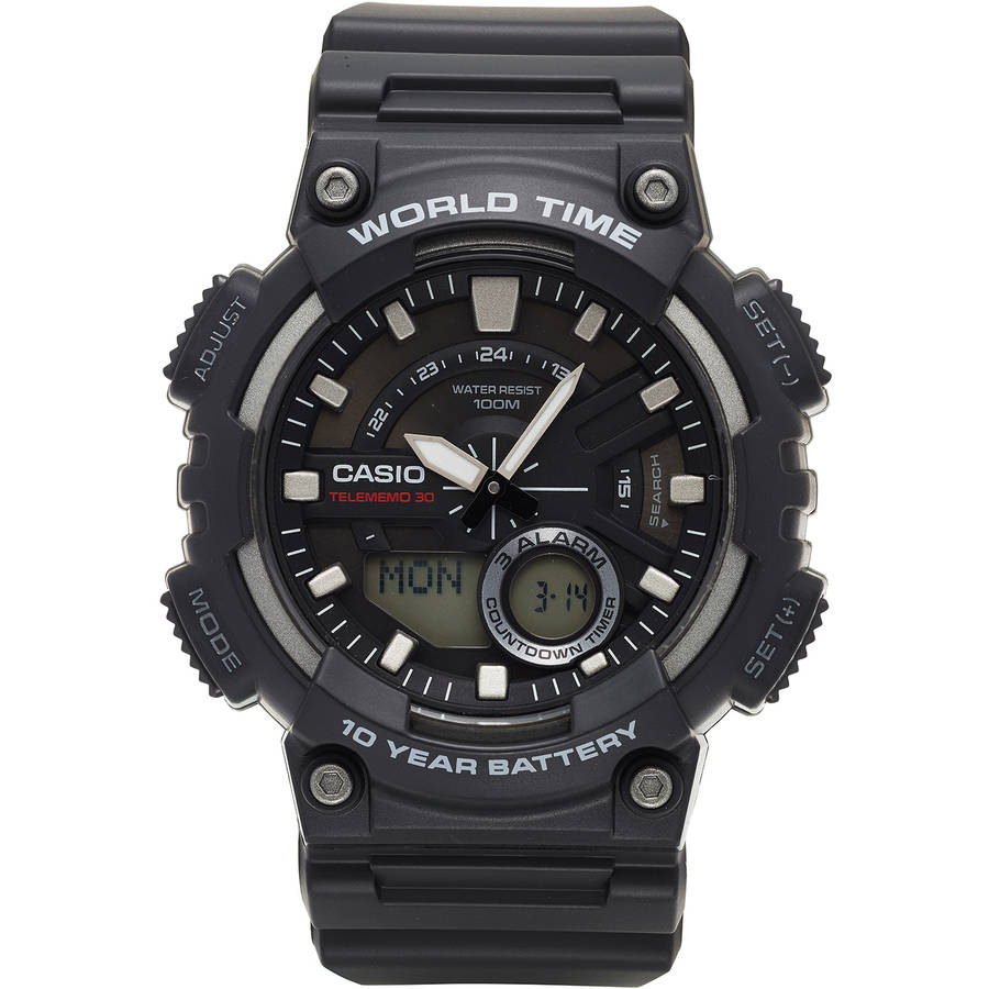 Casio Men's Ana-Digi Watch, Black, AEQ110W-1AVCF