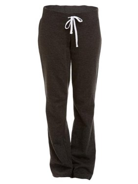 soffe women's french terry lounge pant, charcoal heather, x-large