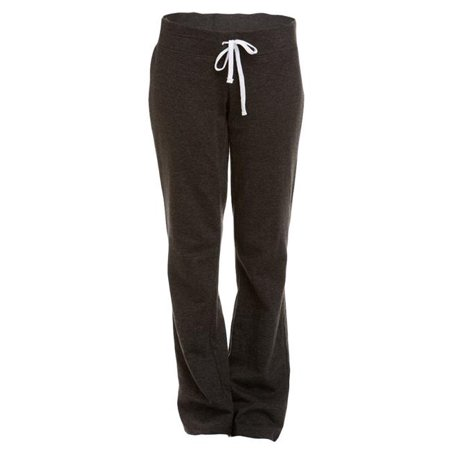 Soffe 5378V033XLG Juniors French Terry Lounge Pant, Charcoal Heather - Extra