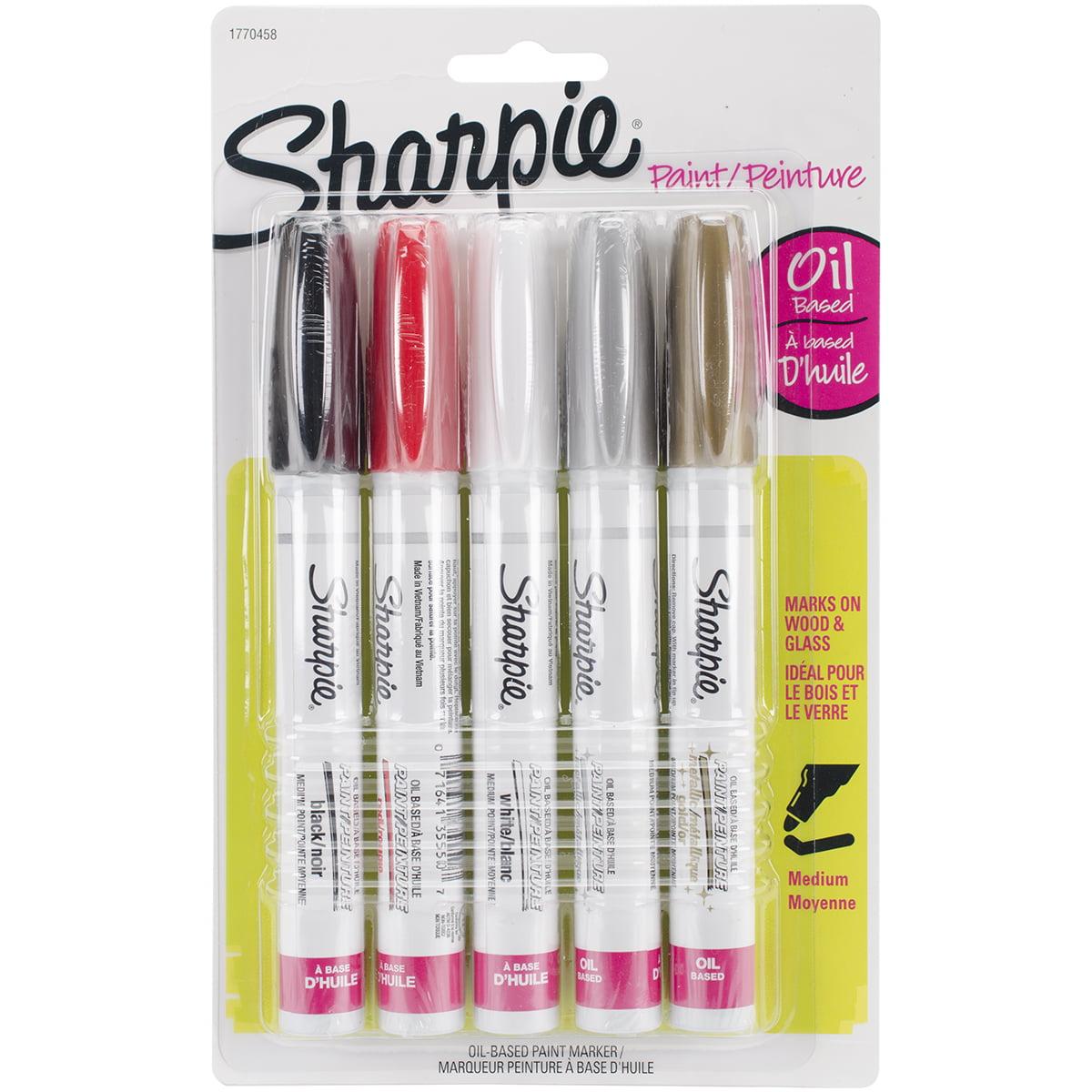 Sharpie Basic Paint Marker Set, 5-Color