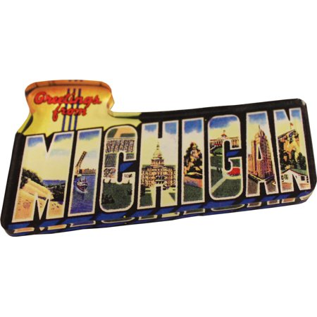 - Michigan Acrylic Postcard Magnet