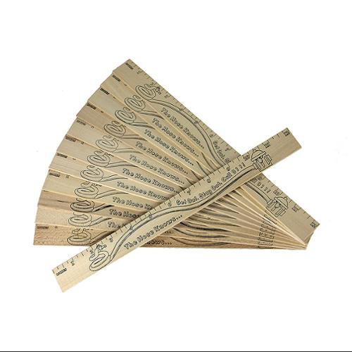 """Club Pack of 25 Natural Wood """"The Hose Know"""" Children's Fire Safety Rulers - 12"""""""