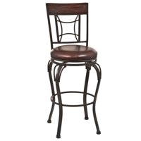 "Kingfisher Lane 30"" Swivel Bar Stool in Dark Chestnut and Brown"
