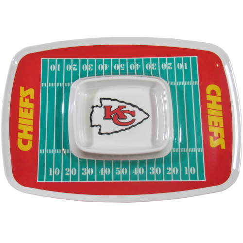 Kansas City Chiefs Chip & Dip Tray  - NFL Licensed #32525