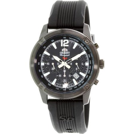 Orient SP Collection FTW01002B0 Black Dial Black Rubber Band Men's Watch