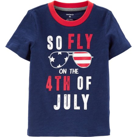 Carters Toddler Boys Fly On The 4th Of July T-Shirt - 4th Of July Crafts For Toddlers