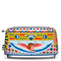 """Dolce and Gabbana x Smeg TSF02DGUS 4 Slice Toaster,""""Sicily Is My Love,"""" Collection"""