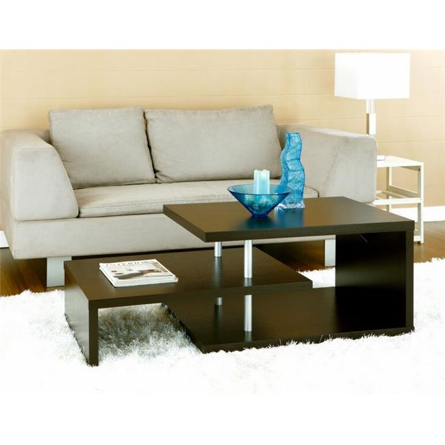 Enitial Lab ID-10350CT Rem 3-Tiered Coffee Table, Espresso