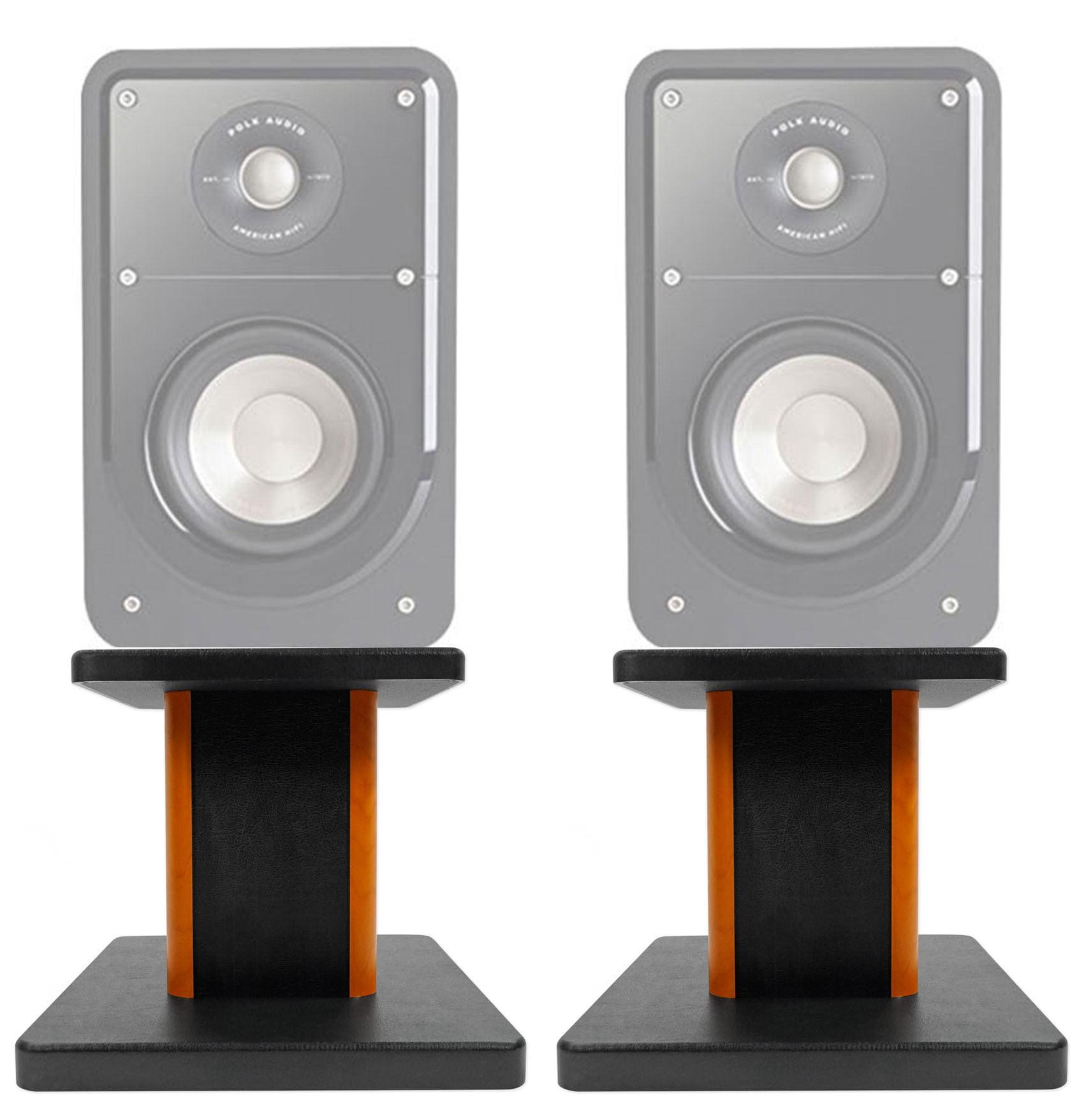"""Black 29/"""" Steel Bookshelf Speaker Stands For Polk Audio S20 Bookshelf Speakers"""