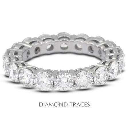 Diamond Traces UD-EWB446-7154 18K White Gold 4-Prong Setting 1.36 Carat Total Natural Diamonds Basket Eternity Ring - image 1 de 1